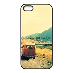 DIY Phone Case for Iphone 5,5S, Let's Run Away Cover Case-495934