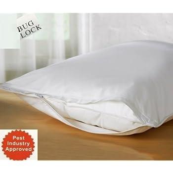 "Premium BED Bugs Pillow Protector a Set of 2 Pillow Protectors - Lifetime Warranty (Queen (21""x""28))"