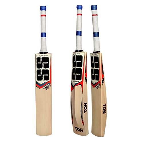 SS T20 PREMIUM English Willow Cricket Bat (Free Extra SS Grip, Anti scuff Sheet & Bat Cover Included) 2017 Edition by SS
