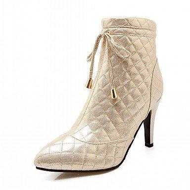 RTRY Zapatos De Mujer De Piel Sintética Pu Novedad Moda Otoño Invierno Confort Botas Botas Stiletto Talón Señaló Toe Botines/Botines Lace-Up Para US10.5 / EU42 / UK8.5 / CN43
