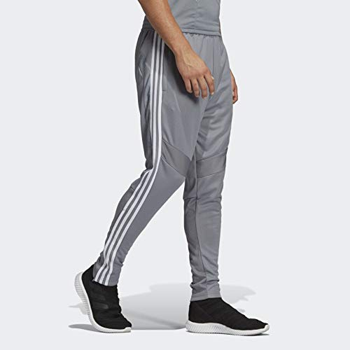 7f84ad9ca adidas Men's Soccer Tiro 19 Training Pant, Grey/White, - Import It All