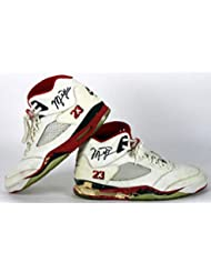 284fefb84c2 Bulls Michael Jordan Autographed Signed 1990 Game Used Nike Air Jordan V  Shoes Bas - Certified