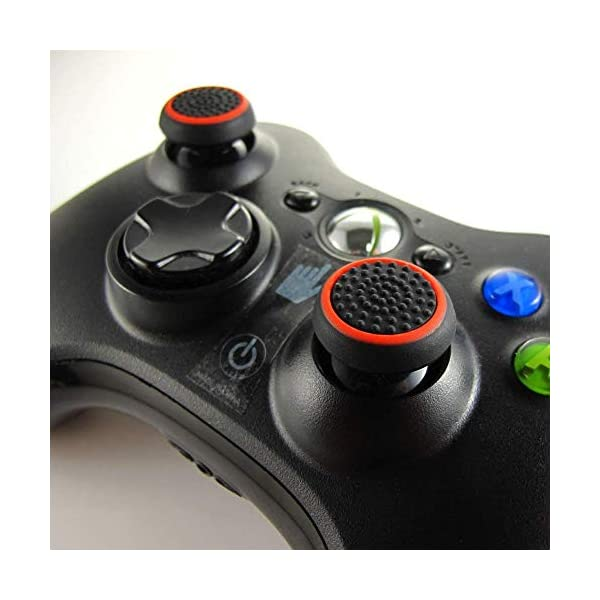 8 Pairs Silicone Thumb Grips Protective Cap Compatible for PS4, PS3, PS2 Xbox One and Switch Pro Controller Joystick 2