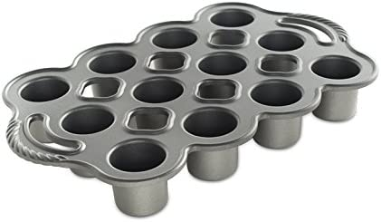 Nordic Ware Cast Aluminum Petite Popover Pan 1 4 Cup Each 12 Cavity Silver Gray Amazon Ca Home Kitchen