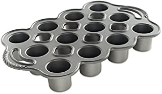 product image for Nordic Ware Cast Aluminum Petite Popover Pan 1/4 Cup Each, 12 Cavity, Silver/Gray
