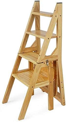 XIN Escaleras multiusos para niños Taburete de escalera Taburete plegable antideslizante Taburete portátil para jardín al aire libre Estante de flores de madera maciza Mesa y sillas de comedor Estant: Amazon.es: Bricolaje