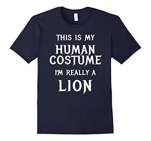 Mens Diy Lion Costume - Mens I'm Really a Lion Halloween Costume Shirt Easy Funny Large Navy