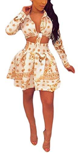 Womens Set Sleeve Long Skirt 2 Pleated Printed Jaycargogo Short Dress qHg8dq