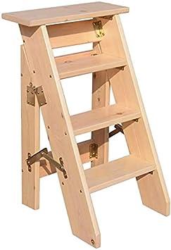 jiaju Escaleras Taburete de Escalera para Adultos Plegables de la Escalera portátil, Silla de la Escalera doméstica STEPLADERS LIGHTWEED Home Jardin HERRAMENTE / E2 / E2