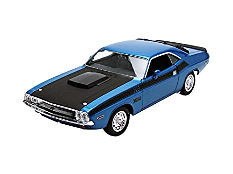 Amazon 1970 Dodge Challenger Ta Blue 124 By Welly 24029 Toys