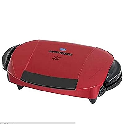 George Foreman 5-serving Grill with Removable Plates, Red Grp0004r