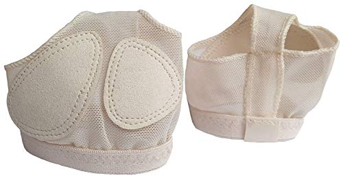 Miavestar Ballet Belly Dance Half Sole Paws Pad Foot Thongs Dance Shoes (S, Nude)