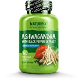 NATURELO Organic Ashwagandha – Best Natural Supplement for Anxiety & Stress Relief, Mood Enhancer, Tyroid Support, Anti Depression – Root Powder Herbs with Black Pepper Extract – 120 Vegan Capsules Review