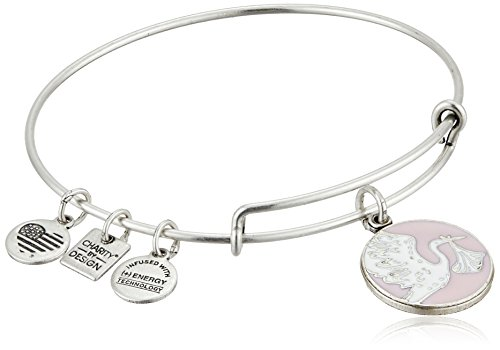 Alex and Ani Charity By Design Special Delivery Pink Rafaelian Silver Bangle Bracelet (Special Gift Delivery)