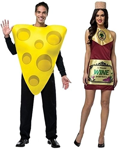 [Wine and Cheese Adult Couples Costumes] (Wine And Cheese Couples Costume)