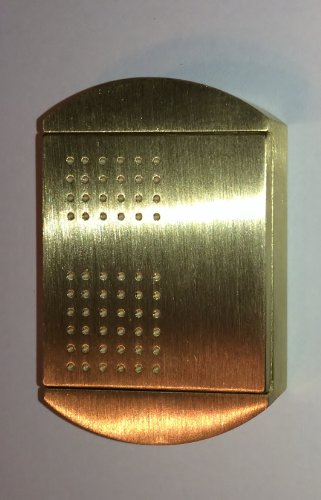 100% BRASS ! Dog Tag Pill Box Brass Tag Pill Box, The ORIGINAL Now made from Brass to hit the market ! Pill Case, Necklace, Medicine Holder by MAGNO