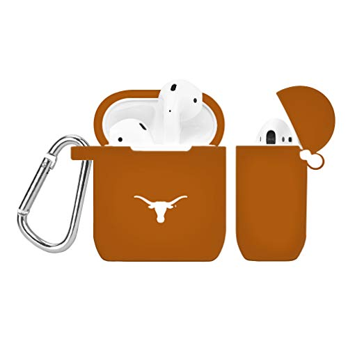 AFFINITY BANDS Texas Longhorns Silicone Case Cover Compatible with Apple AirPods Battery Case