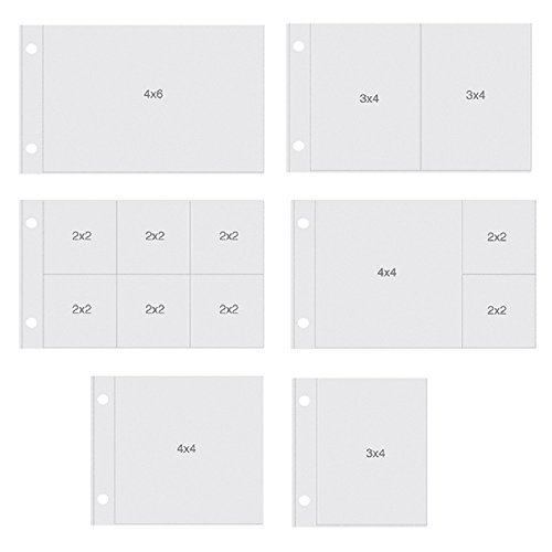(Simple Stories SNAP4091 Snatp Horizontal Pocket Pages for Binders (12 Pack), 4