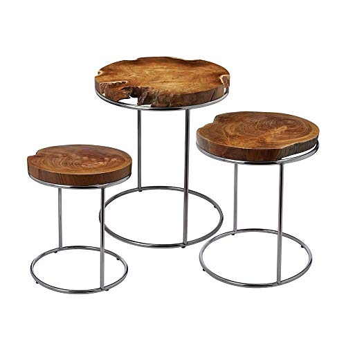 Dimond Home 162-001 Natural Teak Stacking Tables, 20