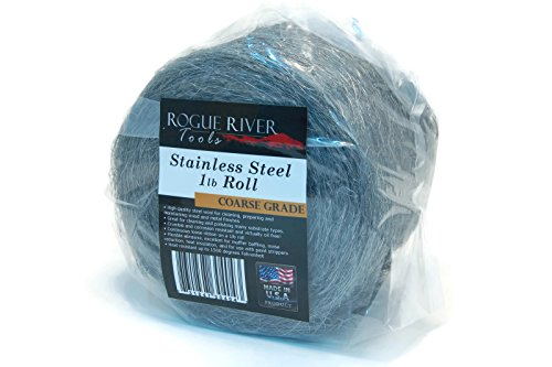 Rogue River Tools Stainless Steel Wool 1lb Roll (Coarse Grade) - Made in USA! by Rogue River Tools
