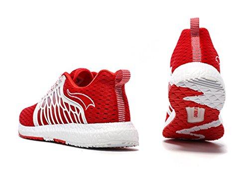 Rouge blanc Mixte Chaussures Running De Onemix Adulte S71XnY7z