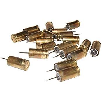 9mm bullet casing thumb tack push pin box of 20 hunter shooter marksman gun  enthusiasts must