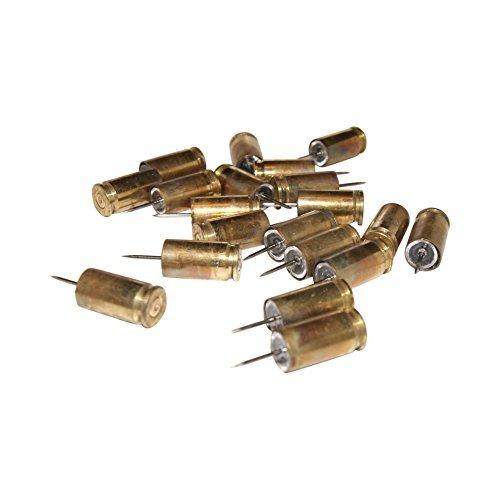 9mm Bullet Casing Thumb Tack Push Pin Box of 20 Hunter Shooter Marksman Gun Enthusiasts Must Have