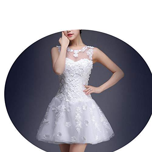 撤退安定何よりも刺繍花花嫁は結婚したトーストの服短いスリム,白,XXL