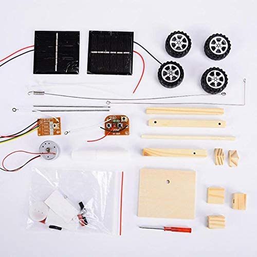 Engineering Robotics Science Experiment Projects for Kids and Teens Gifts Educational DIY STEM Wooden Building Kits for Boys and Girls Bojetal Solar Car Toys with Wireless Remote Control