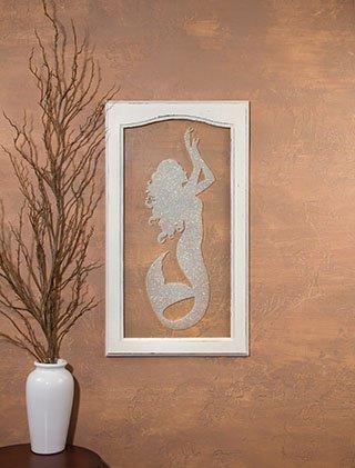 Glittered Mermaid Silhouette Window