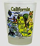 California Frosted Map New Design Shot Glass