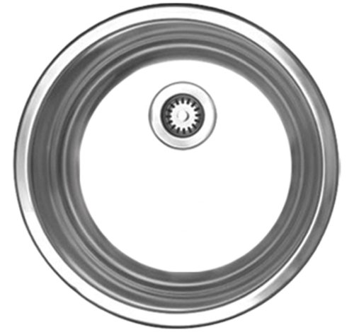 Whitehaus WHND11-5-BSS Noah's Collection 12-3/4-Inch Diameter Round Drop-In Entertainment Sink, Brushed Stainless Steel ()