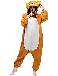9675b9e5f6e7 Onesie for Women Men Animal Pajamas Cosplay Adult Sleepwear Bear Costume  Cartoon Outfit