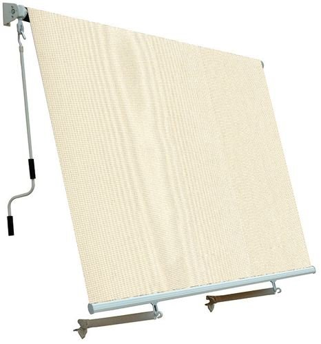 Tende Da Sole A Rullo A Caduta.Tenda Da Sole Per Balcone Con Sistema A Caduta Colore Ecru 250x250