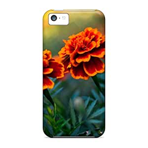 For Iphone 5c Fashion Design Flower Pair Case