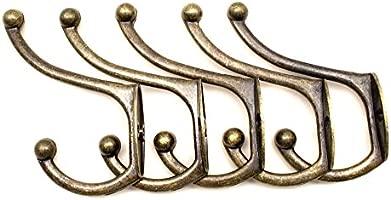 fuxxer® – Antiguo gancho de toallas de mano | – Perchero con ganchos de ropa sombrero de gancho, hierro fundido de latón bronce | Landhaus Vintage ...