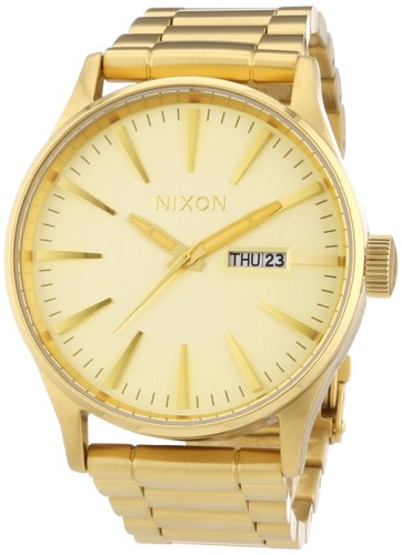 nixon-mens-sentry-watch-one-size-gold