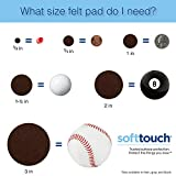 SoftTouch 4719095N Heavy Duty 1 Inch Felt Furniture Pads to Protect Hardwood Floors from Scratches, Linen, 48 Round