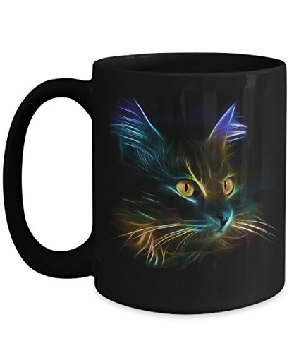 POISENA - Cat 3D - Cat Mugs for Coffee or Tea - Christmas Gifts for Men Women Him Her Mom Dad