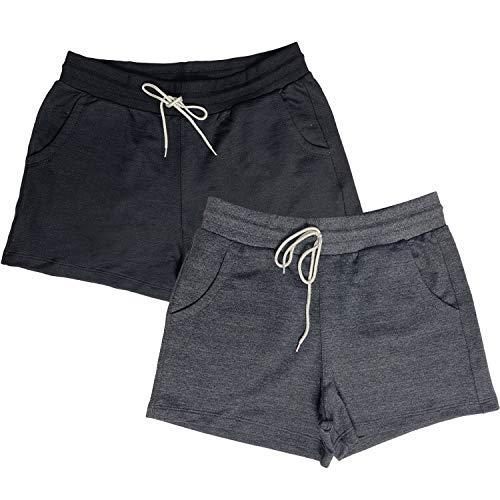 Kit c/ 2 Shorts Dooker Lisboa - Feminino Cor:Preto - Chumbo;Tamanho:P;Gênero:Mulher