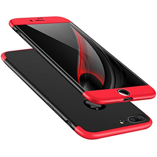 ATRAING iPhone 7 Plus case,A Trading Ultra-Thin PC Hard Case Cover for iPhone 7 Plus (Red+Black+Red)