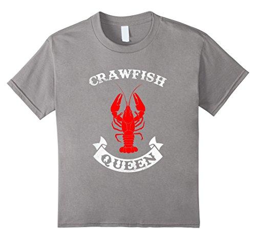 [Kids Crawfish Queen T Shirt - Crawfish Boil Party Festival Shirt 6 Slate] (Crawfish Costumes)