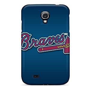 Best Cell-phone Hard Covers For Samsung Galaxy S4 (wYt5752EQUs) Support Personal Customs Fashion Atlanta Braves Pictures