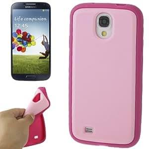 """Caso de la cubierta protectora de silicona Galaxy S4 """"Bi -Color Rosa y Magenta"""""""