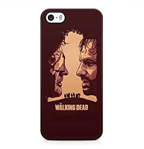 The Walking Dead Rick Grimes And Governor Dark Claret Hard Plastic Phone Case Cover Shell For iPhone 5 & iPhone 5s