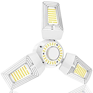 LED Garage Lights 125W Ceiling Lights E26 Deformable Three-Leaf Garage Light 14,000lm Tribright LED Adjustable Light… 1