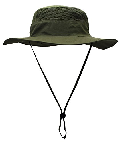 Mazo Quick-Dry Sun Hat Breathable mesh Camping Hat Outdoor Fishing Cap (Cap Hat Olive)