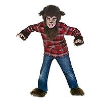 Disfraz de hombre lobo feroz de niños grandes (4-6)