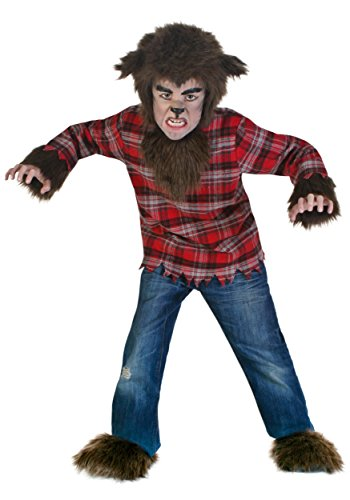 Werewolf Costumes (Big Boys' Fierce Werewolf Costume Medium)