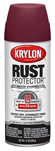 krylon 69032 Rust Protector and Preventative Enamels, Satin Burgundy by The Sherwin-Williams Company (HI) ()